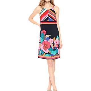 Trina Turk Women's Vacaciones Dress, Jet Set Floral Matte Jersey Medium