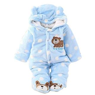 Jojobaby Newborn Baby Jumpsuit Outfit Hoody Coat Winter