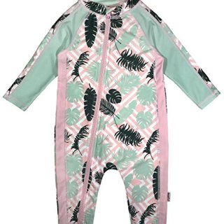SwimZip Little Girl Long Sleeve Sunsuit