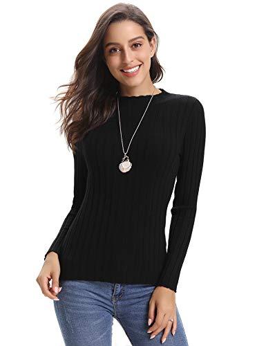Abollria Women's Long Sleeve Solid Lightweight Soft