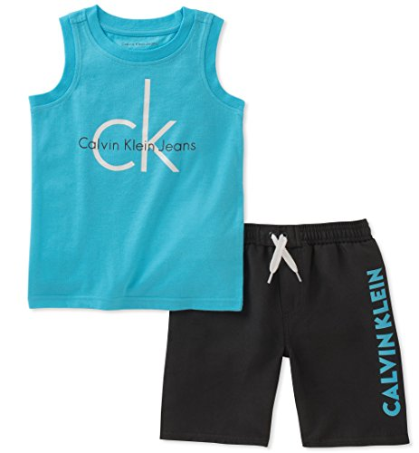 Calvin Klein Baby Boys 2 Pieces Muscle Top Short Set