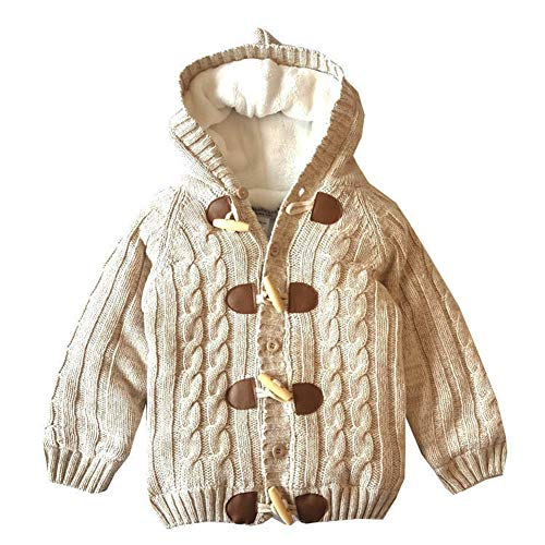JGJSTAR Baby Sweater Cardigan 100% Cotton Toddler Boys Girls