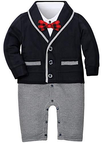 WESIDOM Baby Boy Clothes Set Bow Tie Baptism Wedding Tuxedo
