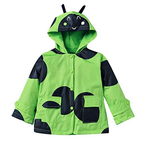 Waterproof Raincoat Boy Hooded Windbreaker Long Sleeve Outwear