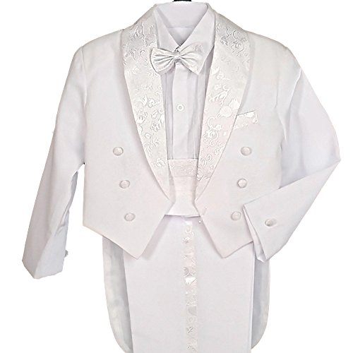 Dressy Daisy Baby Boys' Classic Tuxedo w/Tail 5 Pcs Set