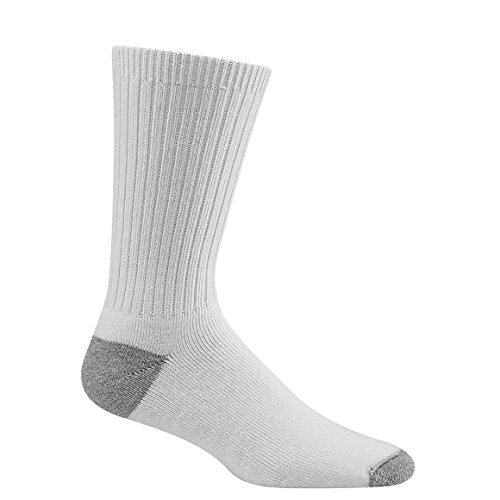 Davido Mens crew Socks made Italy 100% cotton 8 pair White/gray