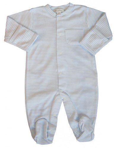 Kissy Kissy Baby Boys' Stripe L/S Footie -Blue - 6-9 Months