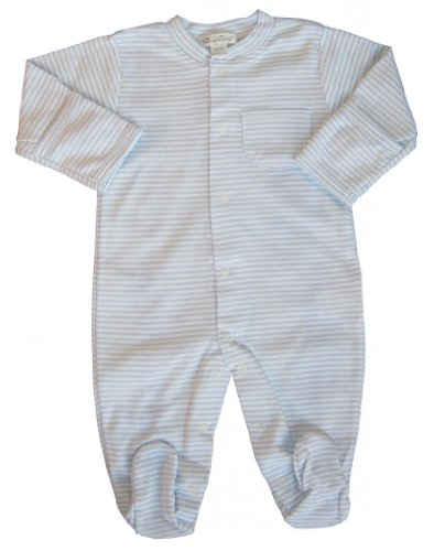 Kissy Kissy Baby Boys' Stripe L/S Footie -Blue - 6-9 Months