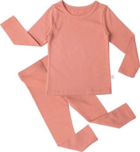 AVAUMA Baby Boys Girls Solid Modal Pj Set Kids Pajamas
