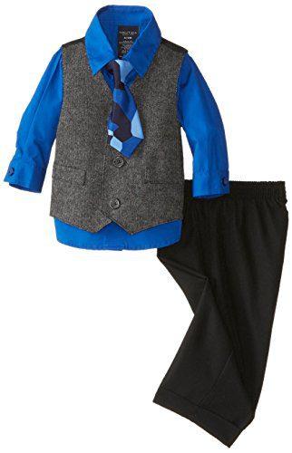 Nautica Boys' 4-Piece Formal Dresswear Vest Set