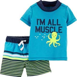 Carter's Baby Boy's Octopus Rashguard and Trunks Swim Bathing Suit
