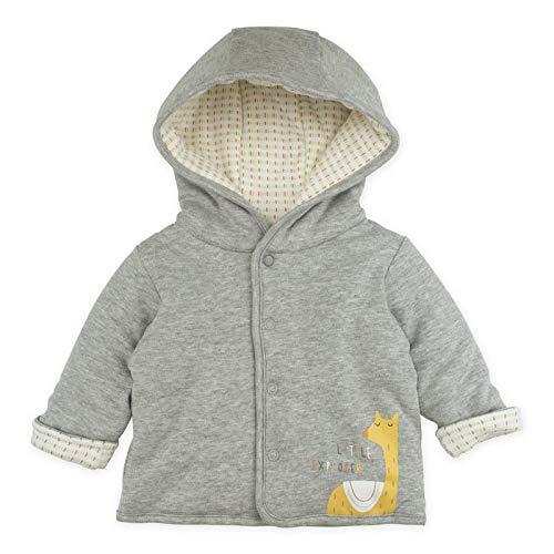 Baby Boy Baby Girl Cardigan, Heather Grey Hooded Cardigan Jacket