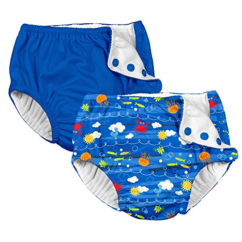 i play. 2 Pack Boys Reusable Baby Swim Diapers