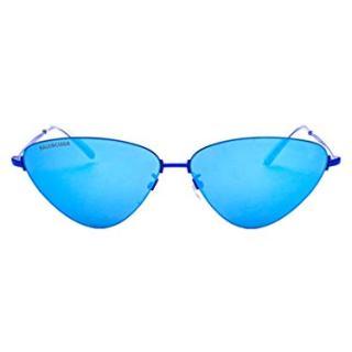 Balenciaga Women's Light Blue Metal Sunglasses