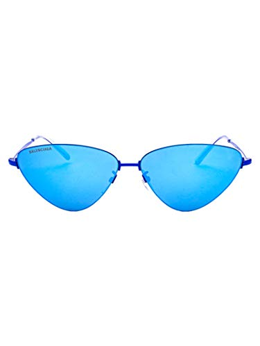 Balenciaga Women's Light Blue Metal Sunglasses