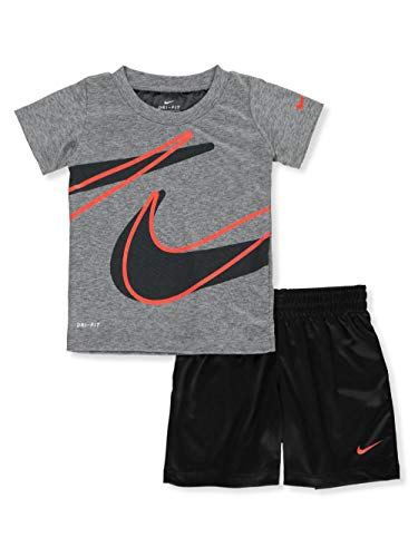 Nike Baby Boys' Dri-Fit 2-Piece Shorts Set Outfit - Black