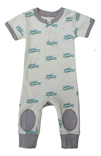 Cat & Dogma Organic Unisex Baby Sleeveless Short Sleeved Romper