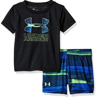 Under Armour Baby Boys Sleeve Bodysuit and Short Set
