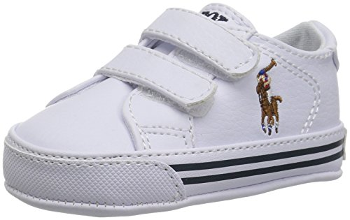 Polo Ralph Lauren Kids Boys' Easten EZ Crib Shoe White