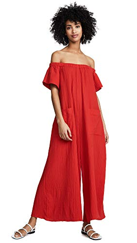 Mara Hoffman Women's Blanche Jumpsuit Cover Up, RED, X Small