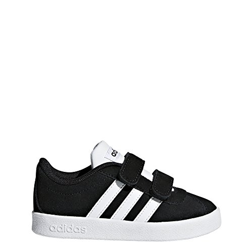adidas Kids' VL Court 2.0, Core Black/White/White