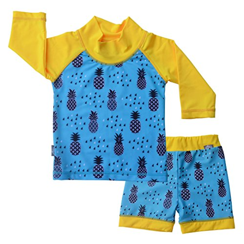 UV Protective Swimwear Set Rash Guard 2 Piece Kids Unisex