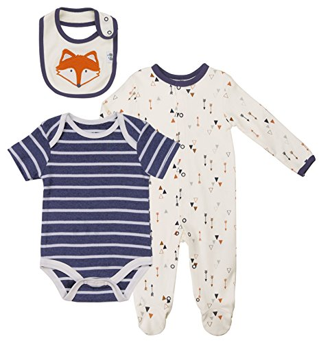 Baby Boys' Layette Sets 3-Piece Footed Long-Sleeve Pajama