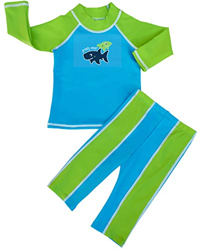 grUVywear Baby | Toddler Boys Rash Guard Long Sleeve Swimsuit