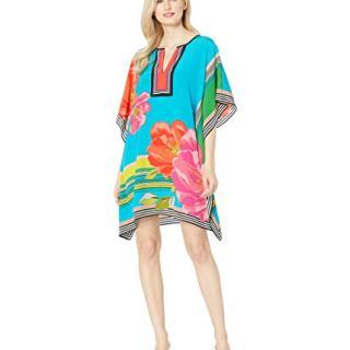 Trina Turk Women's Theodora Short Sleeve Caftan Style Dress