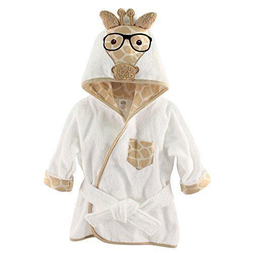 Hudson Baby Animal Face Hooded Bath Robe