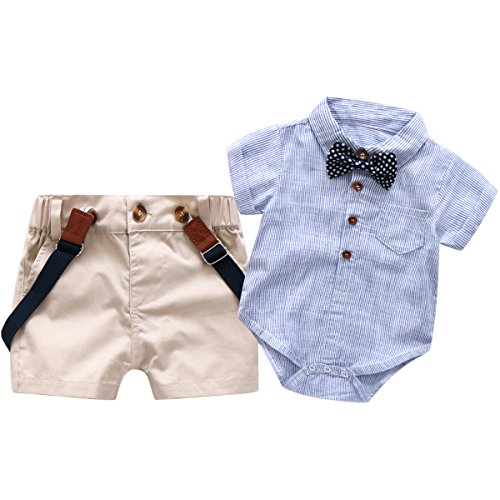 Baby Boys Short Sleeve Gentleman Outfits Suits
