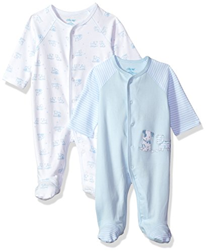 Little Me Baby 2 Pack Footies, Puppy Hug, 6 Month
