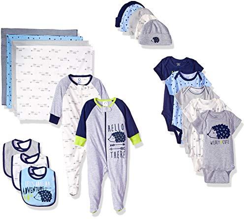 Gerber Baby Boys' 19-Piece Essentials Gift Set, Hedgehog