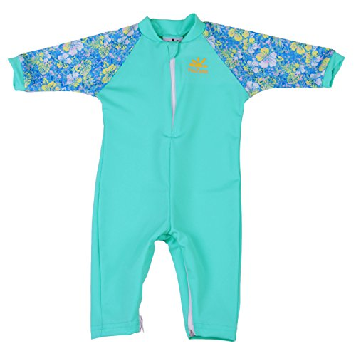 Nozone Fiji Sun Protective Baby Girl Swimsuit in Aquatic/Aloha