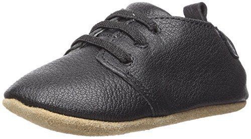 Robeez Boys Oxford Crib Shoe, Owen-Black