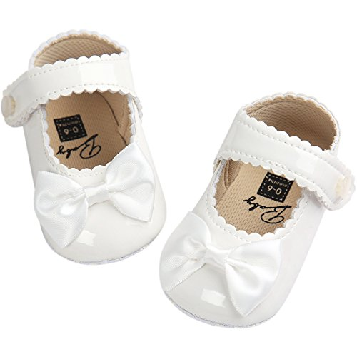 Fire Frog Baby Girls Mary Jane Pu Leather Bowknot Pincess