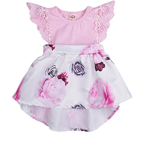 HappyMA Infant Toddler Baby Girl Floral Dress