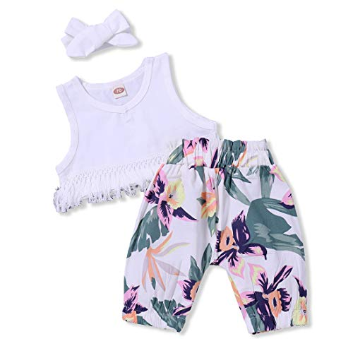 Newborn Infant Baby Girls Floral Shorts Set Sleeveless