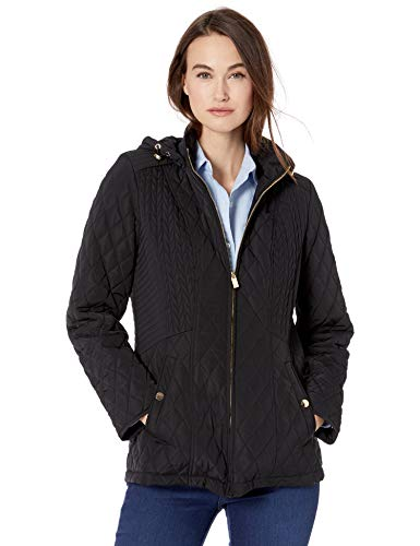 Jones New York Women's Hooded Midweight Quilted Jacket