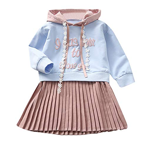 XEDUO Korean Kids Baby Girl Letter Hooded Princess Dress