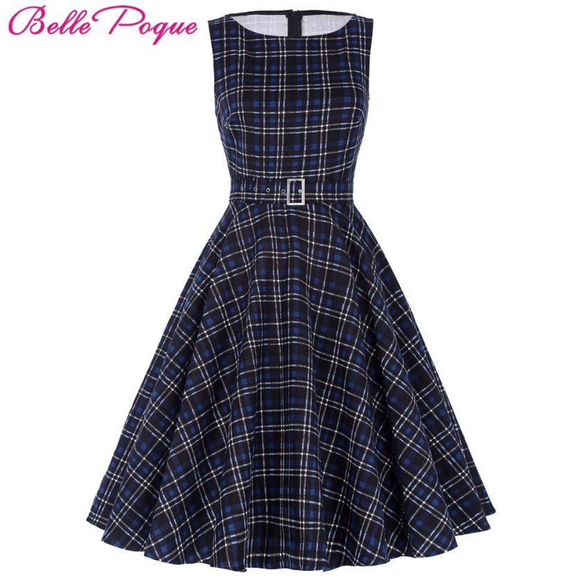 Belle Poque Women Summer DressRockabilly Audrey Hepburn Tunic robe