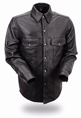First Manufacturing Men's Lightweight Leather Shirt