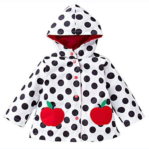 Wennikids Baby Girls Boys Raincoat Windbreaker Hooded Bomber Outerwear