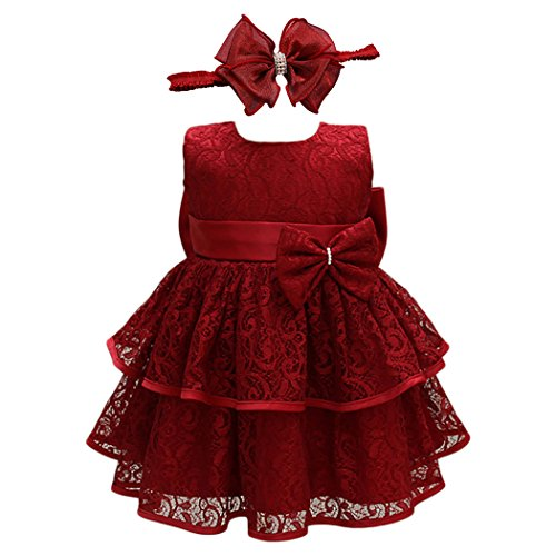 Glamulice Baby Girl Lace Party Dress Christening Baptism Girl Dresses