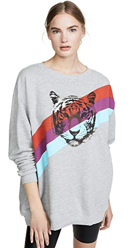 Wildfox Women's Tiger Stripes Sweatshirt, Heather