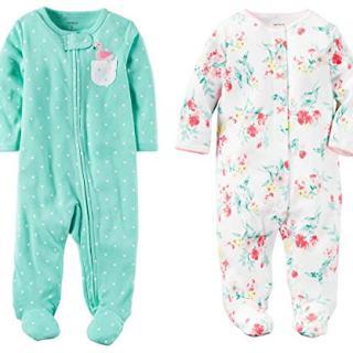 Carter's Baby Girls Footed Sleeper Cotton Sleep