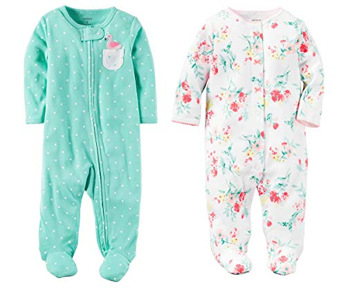 Carter's Baby Girls Footed Sleeper Cotton Sleep