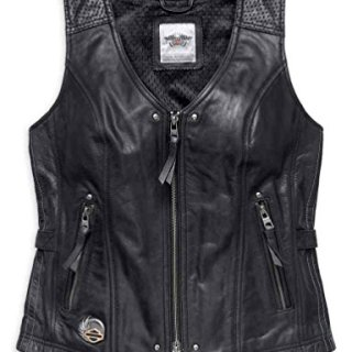 Harley-Davidson Womens 115th Anniversary Limited Edition Leather Vest