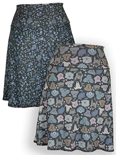 Green 3 Novelty Reversible Skirt - Womens Recycled Skirt