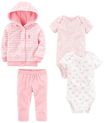Simple Joys by Carter's Baby Girls' 4-Piece Terry Cardigan Set